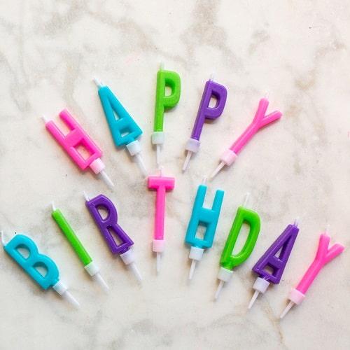 נרות happy birthday מעודכן